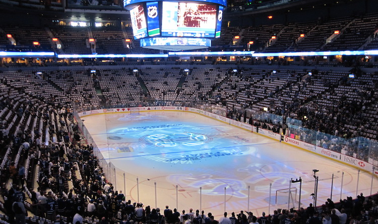 Rogers Arena, home of the NHL's Canucks, just a 10 minute walk from the condo.
