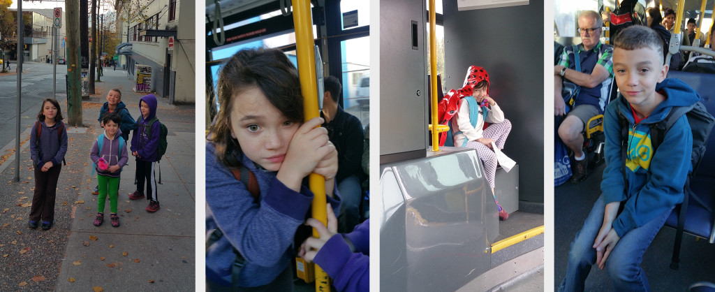collageSnapshots from a successful first week of busing with the nerds.