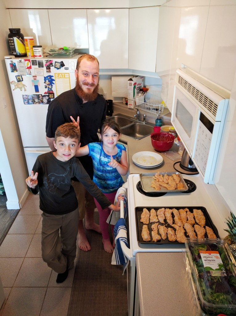 In-home lessons, such as the cooking lessons Adrian's kids take, are a great way to facilitate activities without stressing out parents or other kids.