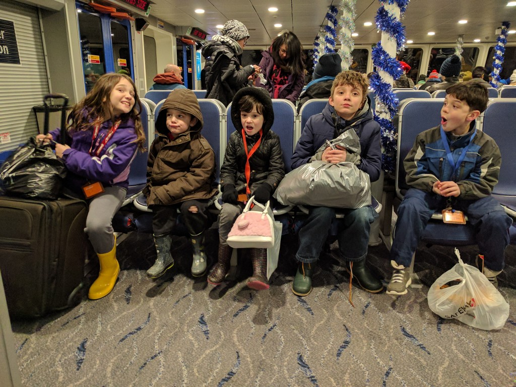 We also take Seabus (shown here) and Skytrain (Vancouver's subway) often as a family.
